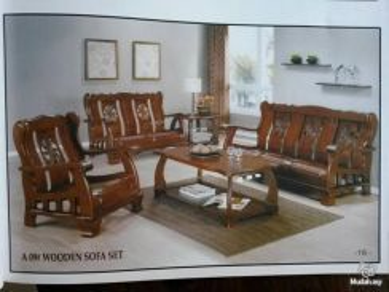 Wooden sofa set a09