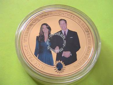 1 Gold Layered PROOF William and Kate Engagement