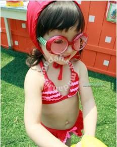 (SS20-100)Cute Bikini Swimsuit For Kids, Set In 3