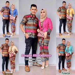 Muslimah long sleeve SET KEBAYA dress top couple