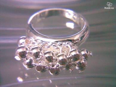 ABRS9-B006 Shinny Beads Rings Silver 925 Ring Sz6