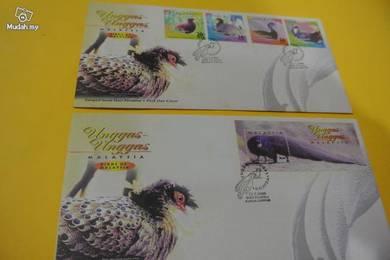 2 FDC Birds Of Malaysia 2000
