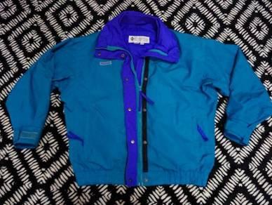Columbia jacket hijau size L for womens