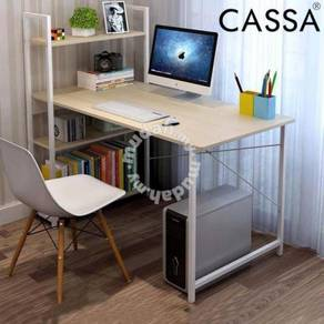 P Table with book shelf