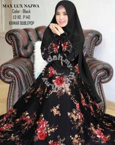 Long sleeve dress blue black pink white