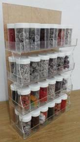 Acrylic 4 Layers 12 Bottles Holder