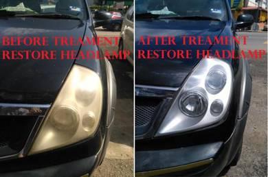 Headlamp restore treament lampu jadi baru