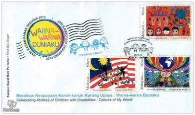 First Day Cover Children Disabilities Msia 2013