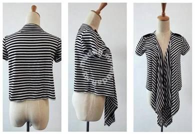 Subzero black white cardigan top