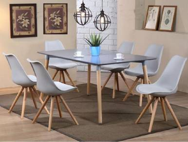 Dining Table With Wooden Leg YGRDS-872T890CGY/W KL