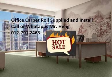 Plain Design Carpet Roll - with install 34g4