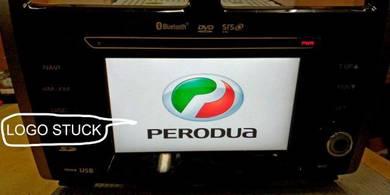 Perodua Myvi Radio DVD Monitor Logo Jam Repair
