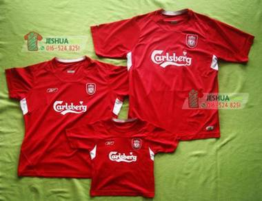 Reebok Liverpool jersey jersi family set