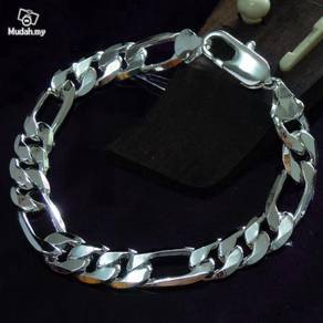 ABBS9-S017 Thick Male 9MM Chain Silver925 Bracelet