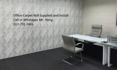 Classic Plain Design Carpet Roll with Install 34gb