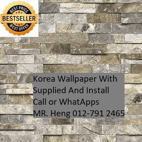 Wall paper Install at Living Space d45hh5t