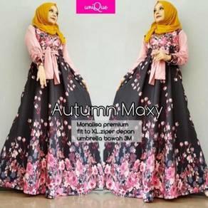 Muslimah long sleeve autumn maxy Monalisa dress