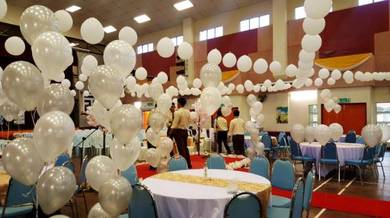 White Balloon Helium Deco 00172