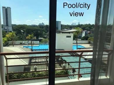 3 bedrooms Lagenda Tasek Condo (FULL LOAN, Pool View & Renovated)