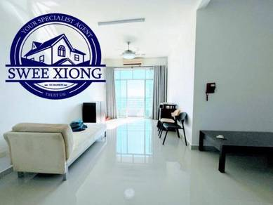 BOULEVARD CONDO 1173SF 2CPak FullyReno Furnished CITY VIEW CHEAPEST