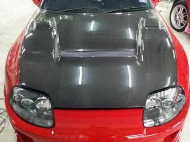 Toyota Supra JZA80 Ridox Carbon fiber bonnet hood