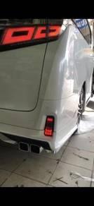 Toyota vellfire 30 rear bumper led reflector lamp