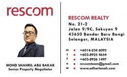Agent: Mohd Shahril Abu Bakar