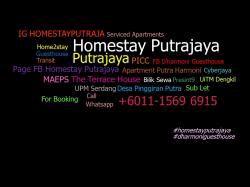 HOMESTAYPUTRAJAYA 011-1569 6915 avatar
