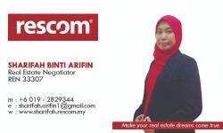 Agent: Ms Sharifah 0192829344